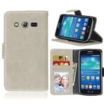 Card Slots Wallet Case Flip Cover PU Leather for Samsung Galaxy Core 4G LTE G386F