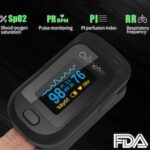 Finger Oximeter 2PCS Portable Electronic LED Display Fingertip Pulse Oximeter High Quality With EVA Bag