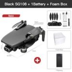 2020 New SG108 Drone 4k HD FPV Drone 5G WiFi GPS Dron Brushles Motor Flight For 25 Min RC Distance 1km RC Quadcopter VS Ex5 Dron