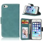 Card Slots Wallet Case Flip Cover PU Leather for   iPhone 5 5S SE
