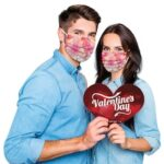 Disposable Face Mask Unisex Adults Valentine's Day Printed 3 Layer Masks