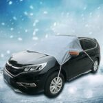 YLB8015 Car Front Shield Glass Protective Cover Winter Anti-freezing Anti-Frost Snow Articles Car Sewing Machine Half Cover