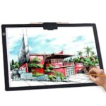 A4-D26 Graphics Tablet Transparent Copper Built-in Lithium Battery Charge Calligraphy Copy Animation Design Painting Drawing Board Gift