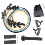 Webbing Head TPE Rally Resistance Band Rally Rope One-line Rally Fitness Equipment 11PCS / Set