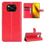 ASLING PU Leather Cover with Holder Wallet Card Storage Phone Case for Xiaomi Poco X3 NFC