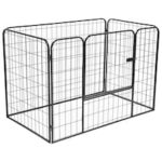 Sturdy Dog Park Black 120x80x70 cm Steel