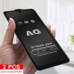 2PCS Frosted Matte 9D Glass for Redmi Note9s 9 9Pro 8 8T 9C 9A Tempered Glass for Xiomi POCO M3 X3 F2pro Anti-fingerprint Safety Glas