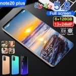 Note 20 Plus Smartphone MT6799 Quad Core 5.8 inch HD+ 6GB RAM + 128GB ROM Android 10.0 13MP + 24MP Cameras 4800mAh Battery Face ID Unlock