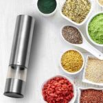 Electric Pepper Grinder Stainless Steel One-handed Operation Spice Grain Cumin Mill with LED Light for Home Kitchen Grinder Tools