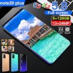 Note 20 Plus Smartphone MT6799 Quad Core 5.8 inch HD 6GB RAM + 128GB ROM Android 10.0 13MP + 24MP Cameras 4800mAh Battery Face ID Unlock