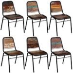 Dining Chairs  6 pcs  Solid Reclaimed Wood