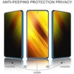 ASLING Privacy Screen Protector Full Coverage Tempered Glass for Xiaomi Poco X3 NFC