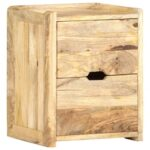 Bedside Cabinet 40x35x50 cm Solid Mango Wood Brown