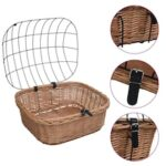 Front Bikes Basket and Lid 50x45x35 cm Natural Willow
