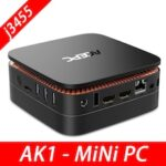 AK1 Mini PC Windows10 Mini Computer Intel Celeron Apollo Lake J3455 8G RAM 128GB SSD HTPC Office HDMI WiFi4K USB3.0 Mini Desktop