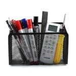 Bilikay Desk Organizer Metal Iron Office Home Supplies Storage Stationery Magnetic Pen Holder Creative