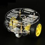 RT4car DIY Smart Mini Round Car Kit Tracking Obstacle Avoidance Remote Control Car Double-layer 2WD Three-wheel Universal Wheel
