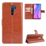 ASLING PU Leather Cover with Holder Wallet Card Storage Phone Case for Xiaomi Redmi 9
