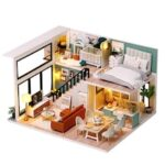 DIY Cabin Comfortable Life Handcracking Model Toy Small House