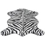 Shaped Rug 150×220 cm Zebra Print