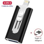 multi-function 4 in 1 USB Flash Drive 32GB OTG micro USB Pendrive 64GB 128GB type c Pen Drive for iphone/ipad/pc/Android phone