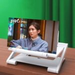 LEEHUR 8inch 3D Screen Amplifier Phone Curved Enlarged Video Movie Magnifying Glass Folding Phone Stand Bracket