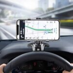 LEEHUR Universal Car Phone Holder Car Rear View Mirror Stand Dashboard Phone Mount Fixed Bracket for Under 7inch Phones