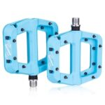 1Pair Nylon Fiber Bicycle Pedal MTB Road Bike Flat 9/16 Inch Bearing Pedals Mountain Bike Pedal Cycling Accessories