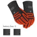 New Electric Heated Gloves With Temperature Adjustment Lithium Batteries Gloves For Skiing Hiking Climbing Driving Cold Weather