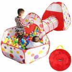 3 In 1 Indoor Outdoor Kids Tunnel Pop Up Game Play Toys Tent Ocean Ball Pit Pool