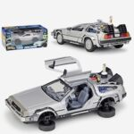 1:24 Diecast Alloy Model Car DMC-12 Delorean Back To The Future Time Machine Metal Car Toy for Kid Toy Gift Collection