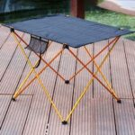 Outdoor Aluminum Alloy Folding Table Leisure Mesh Beach Table Portable BBQ Picnic Table – Small