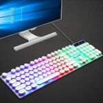 K290 Wired Manipulator Feeling Gaming Computer Keyboard Luminous Punk Suspended Keyboard and Mouse Set