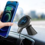 WH-22 Car Magnetic Wireless Charger Magsafe 15W Fast Charging Mobile Phone Bracket Holder for iPhone 12 Series
