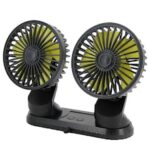 F404 Car Fan with Double Heads 12V24V Small Electric Fan Truck Air Conditioning Refrigeration Powerful Large Volt Car Internal Electric Fan