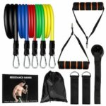 150 LBS Resistance Bands Yoga Exercise Fitness Tubes Workout Pilates Bands 11PCS