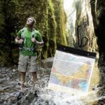 1PC Outdoor Map Cover Waterproof Lightweight Clear PVC Storage Case Holder for Camping Hiking Climbling Sports