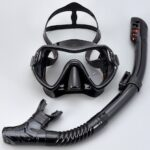 Diving Goggles Breathing Snorkel Set Unisex Adult Large Frame Silicone Mask Swimming Snorkeling Mask Diving Glasses