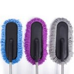 Car Retractable Cleaning Wax Brush Microfiber Remove Dust Window Cleaning Brush