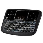 A36 Wireless Mini Air Mouse Flat Touch Pad Colorful Backlight Keyboard