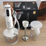 HG-282T 750W Multi-function Kitchen Hand-held Cooking Stick Baby Food Supplement Electric Stirring Stick Cooking Machine Juicing Meat Grinder