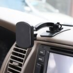 LEEHUR 360 Degree Rotating Paste Magnetic Phone Holder Car Phone Stand Mount for iPhone Samsung Huawei Xiaomi Phones
