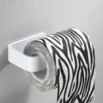 Convenient and Simple No Punching Bathroom Towel Rack Acrylic Roll Paper Tissue Box Hanger