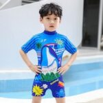 Children One-Piece Swimsuit Surfing Clothing Boy Swimwear Baby Infant Diving Swimming Training Sunscreen Swimsuit
