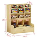 Pen Holder Storage Box Office Desk Retro Shelf Student Simple Personality Rack with Mobile Phone Stand