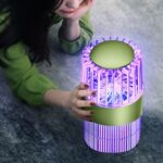 Silent Suction Tempering Mosquito Killer Trap Home Bedroom Rechargeable Purple Electronic Mosquito Killer Lamp