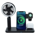 15W Mobile Phone Wireless Charger with Fan for iPhone 12 Serious Fast Charging Dock Station for AirPods iWatch