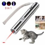 USB Rechargeable Pet Toy 3 In 1 Funny Cat Chaser Stick Mini Flashlight Red LED Laser Pointer Funny Cat Pen Pet Supplies