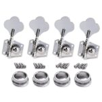 Chrome Bass Guitar 4R Machine Heads Knobs Tuners Tuning Pegs