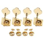 Gold Bass Guitar 4R Machine Heads Knobs Tuners tuning pegs